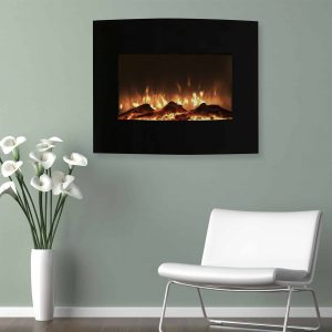 Northwest 25 inch Curved Wall Mounted Electric Fireplace