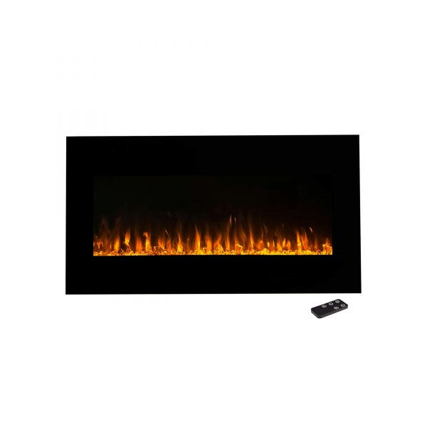 Northwest 36 inch Wall Mounted Electric Fireplace, LED Fire and Flame Effect 4