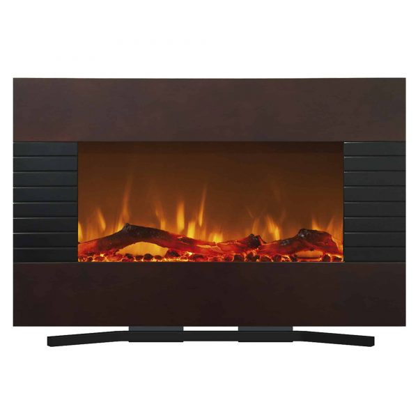 Northwest 36 inch Wall Mounted Electric Fireplace, Mahogany 1