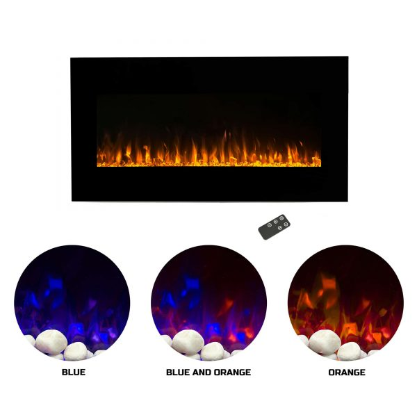 Northwest 42 inch Electric Wall Mounted Fireplace with Fire and Ice Flames 1