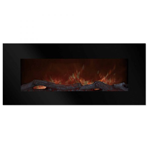 Northwest 50 inch Wall Mounted Electric Fireplace with Color Changing LED, Black 4