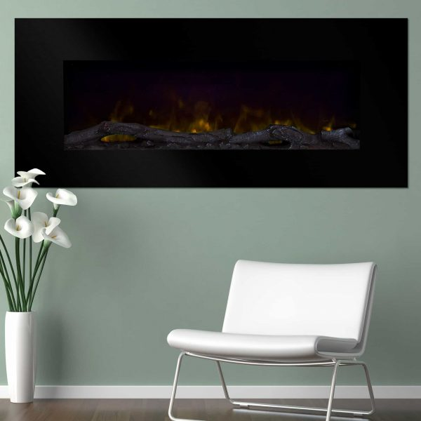 Northwest 50 inch Wall Mounted Electric Fireplace with Color Changing LED
