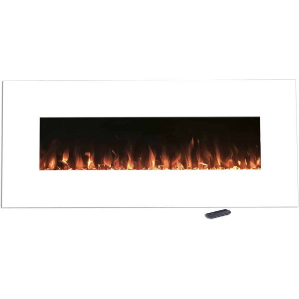 Northwest 50 inch Wall Mounted Electric Fireplace with Color Changing LED, White 1