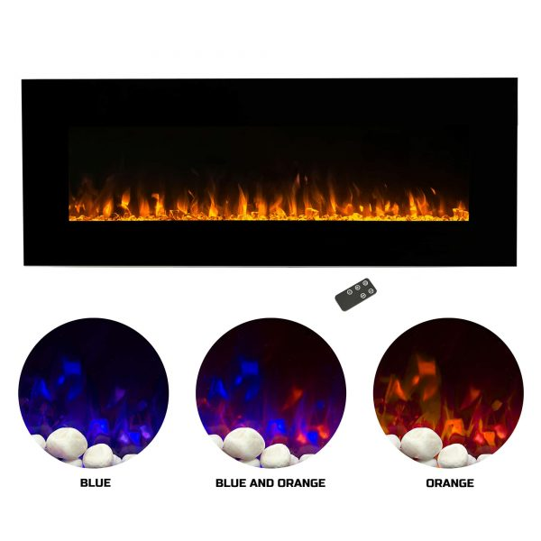 Northwest 54 inch Electric Wall Mounted Fireplace with Fire and Ice Flames 1