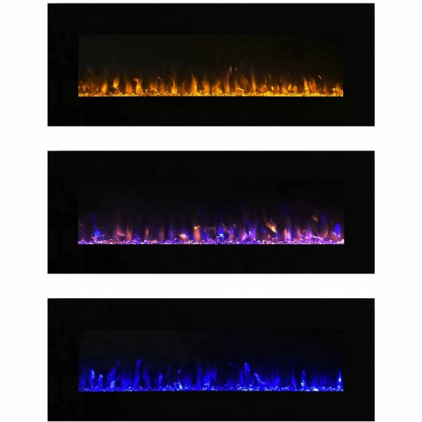 Northwest 54 inch Electric Wall Mounted Fireplace with Fire and Ice Flames 2