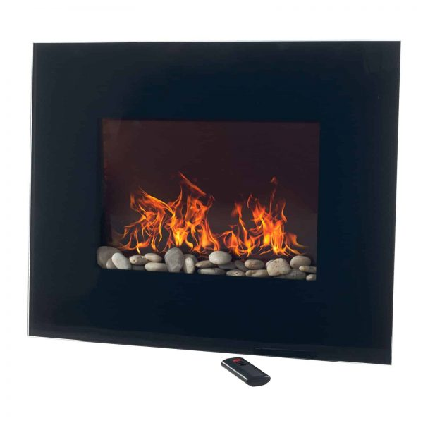 Northwest Electric Fireplace 26 in. Wall Mount with Black Glass Panel 1