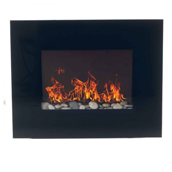 Northwest Electric Fireplace 26 in. Wall Mount with Black Glass Panel 2