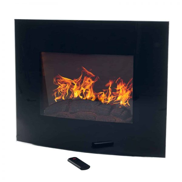 Northwest Electric Fireplace 35 in. Wall Mount with Black Curved Glass Panel 1