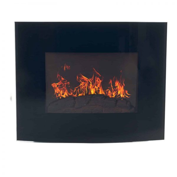 Northwest Electric Fireplace 35 in. Wall Mount with Black Curved Glass Panel 2