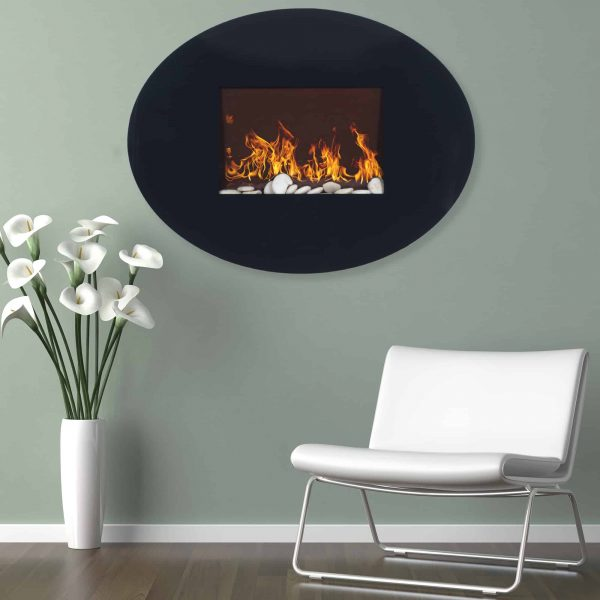Northwest Glass Wall Mounted Electric Fireplace