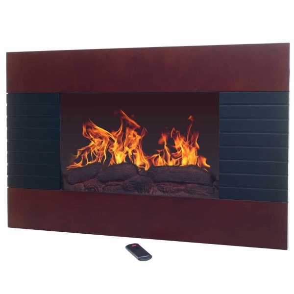 Northwest Mahogany 35 in. Electric Fireplace Wall Mount 1