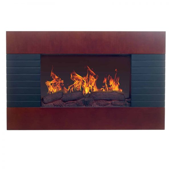 Northwest Mahogany 35 in. Electric Fireplace Wall Mount 3