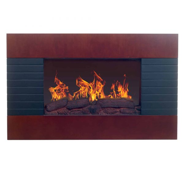 Northwest Mahogany Electric Fireplace with Wall Mount & Remote 1