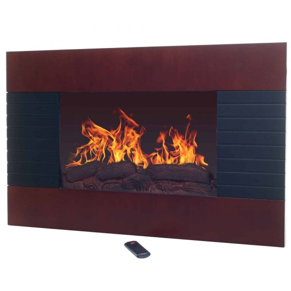 Northwest Mahogany Electric Fireplace with Wall Mount & Remote 2