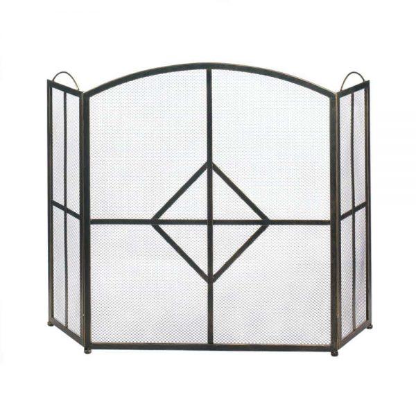 Novelty Diamond Fireplace Screen