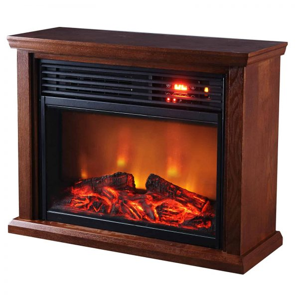 Optimus Fireplace Infrared Heater With Remote
