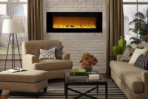 Orren Ellis Slack Wall Mounted Electric Fireplace 1