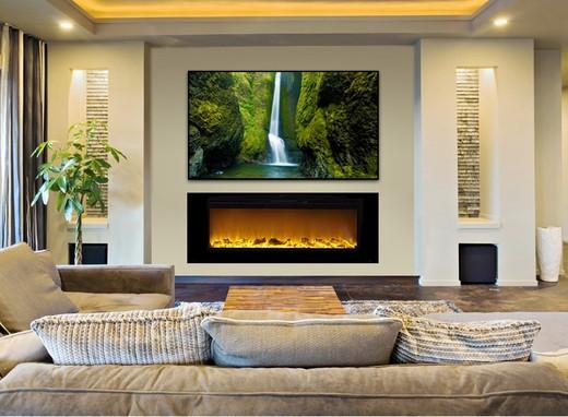 Orren Ellis Slack Wall Mounted Electric Fireplace 2