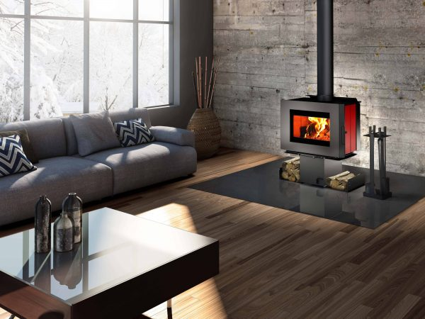 Osburn SOHO Wood Stove with Two Sided Pedestal