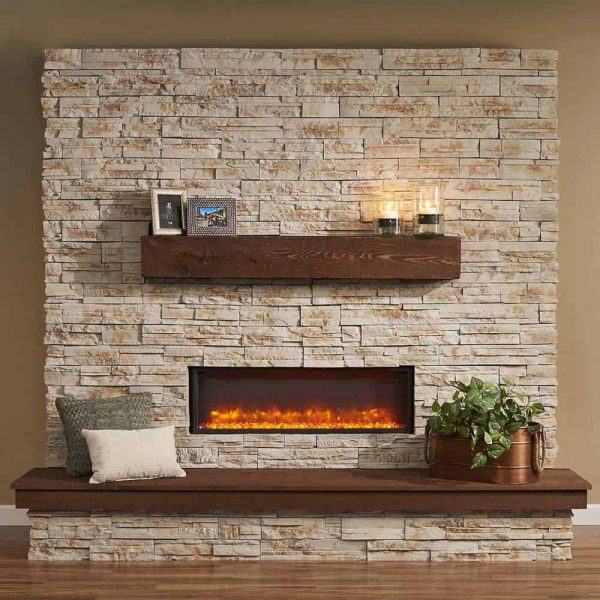 Outdoor GreatRoom Gallery Electric Linear Built-In Fireplace 1