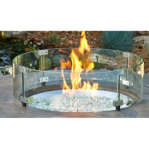 Outdoor GreatRoom Round Glass Guard