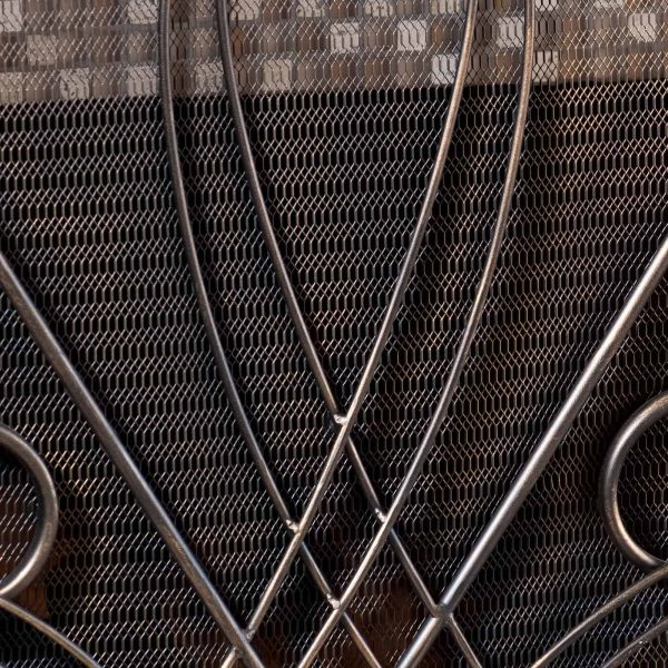 Oxford 3 Panel Iron Fireplace Screen 4