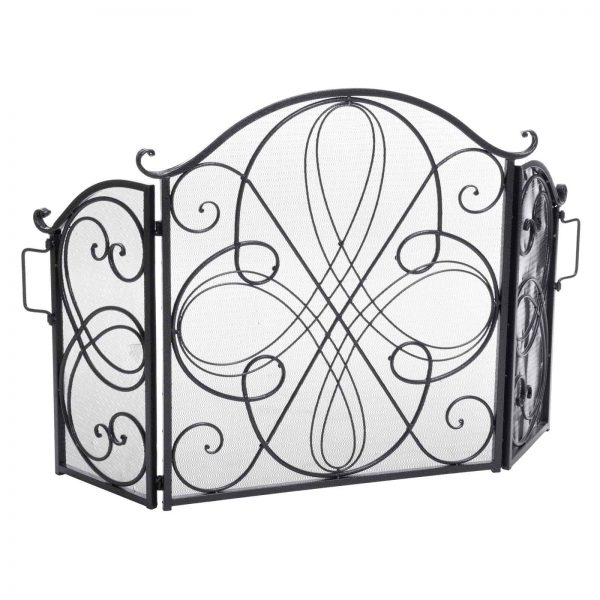 Oxford 3 Panel Iron Fireplace Screen 5