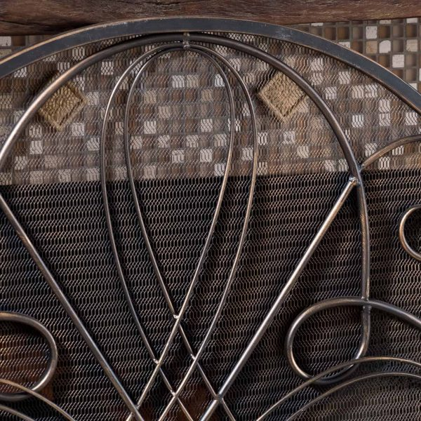 Oxford 3 Panel Iron Fireplace Screen 6
