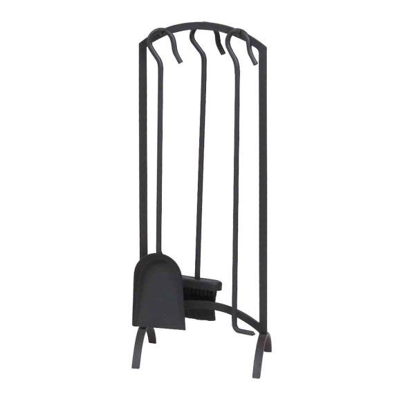 Panacea 4 Piece Arch Fireplace Tool Set - Black 1