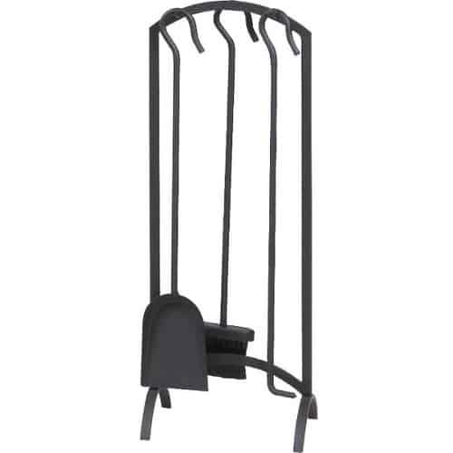 Panacea 4 Piece Arch Fireplace Tool Set - Black
