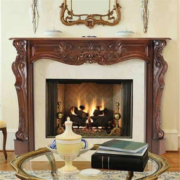 Pearl Mantels 134-48-30 The Deauville Fireplace Mantel Surround Fruitwood Finish