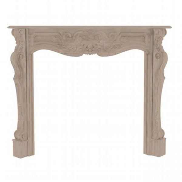 Pearl Mantels 134-48 The Deauville Fireplace Mantel Surround Unfinished