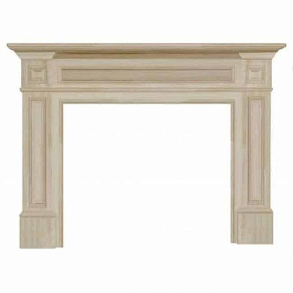 Pearl Mantels 140-50 Classique Fireplace Mantel Surround Unfinished