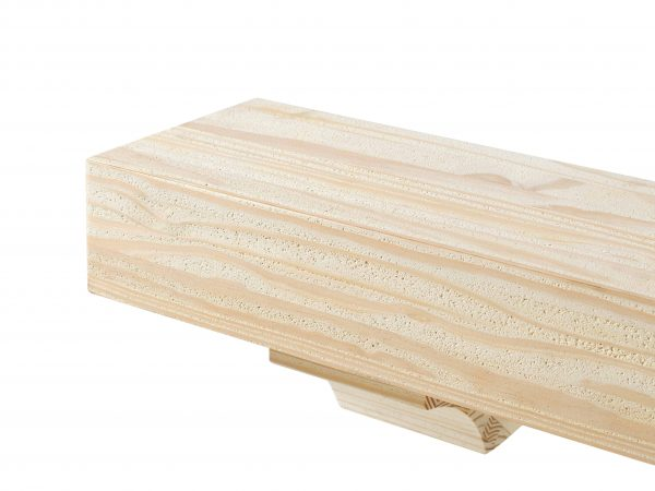 Pearl Mantels 355-48 48 in. The Cherokee Mantel Shelf - Unfinished 1