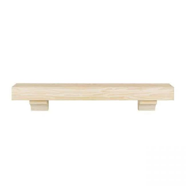 Pearl Mantels 355-48 48 in. The Cherokee Mantel Shelf - Unfinished