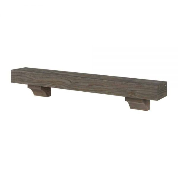 Pearl Mantels 355-60 60 in. The Cherokee Mantel Shelf - Unfinished 1