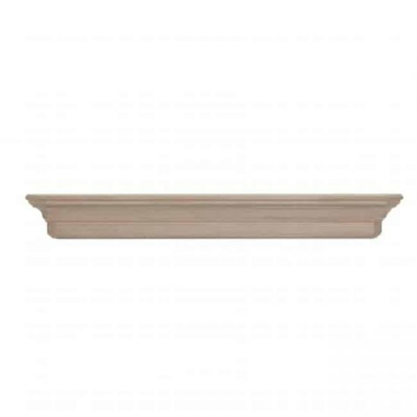 Pearl Mantels 490-72 Lindon Wood 72 Inch Fireplace Mantel Shelf Unfinished