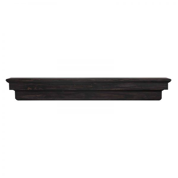 Pearl Mantels 497-72-20 The Celeste 72 in. Mantel Shelf, Espresso Finish 7