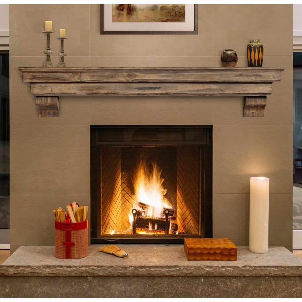 Pearl Mantels 497-72-20 The Celeste 72 in. Mantel Shelf, Espresso Finish 8