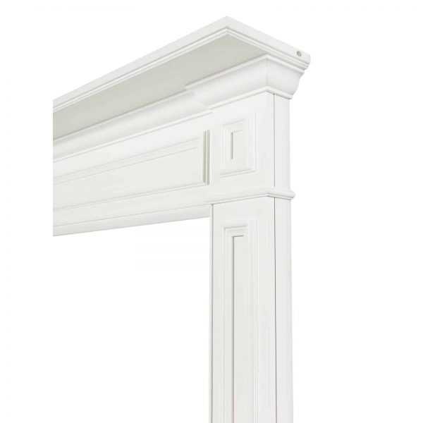 Pearl Mantels 525-48 48 in. The Mike Fireplace Mantel Mdf Paint, White 2