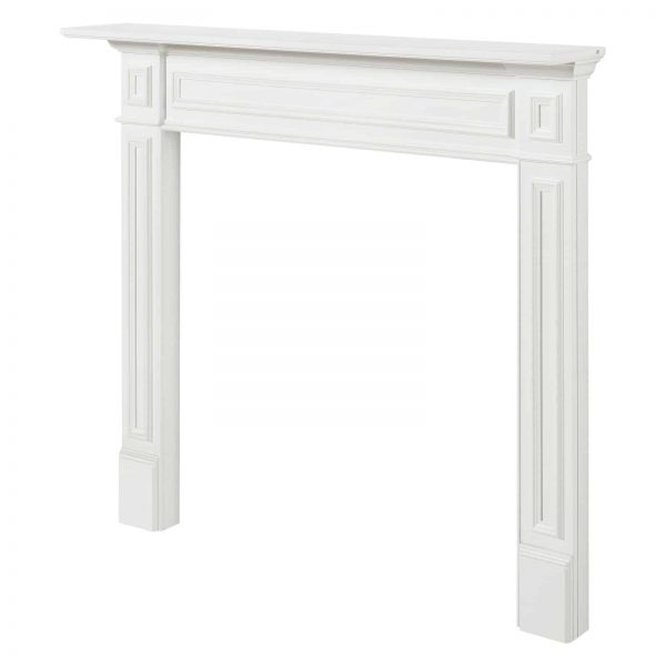 Pearl Mantels 525-48 48 in. The Mike Fireplace Mantel Mdf Paint, White 3