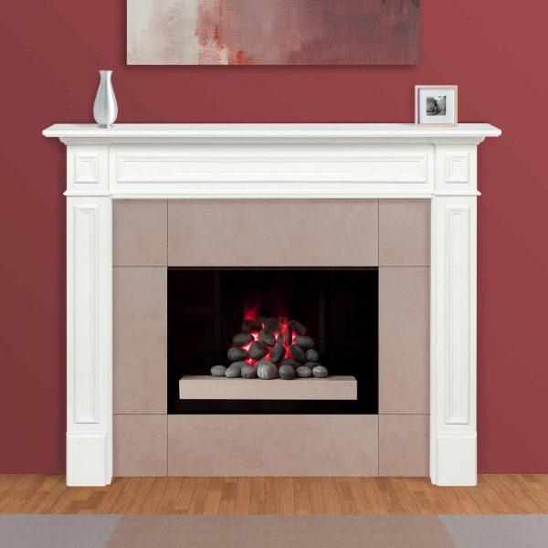 Pearl Mantels 525-48 48 in. The Mike Fireplace Mantel Mdf Paint, White 4