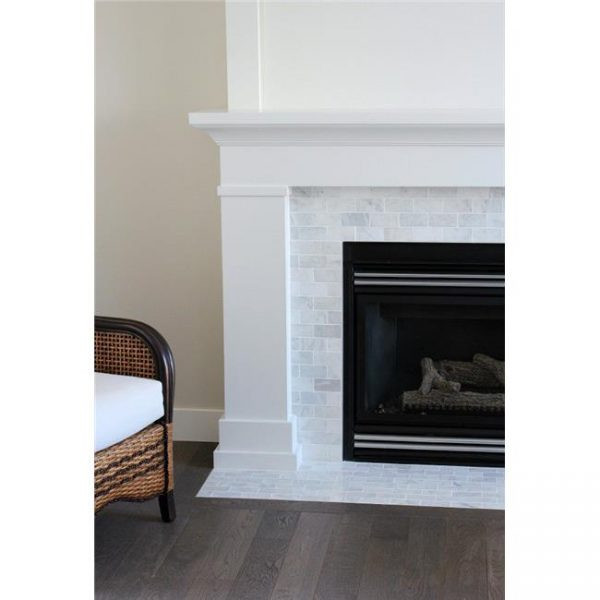 Pearl Mantels 525-48 48 in. The Mike Fireplace Mantel Mdf Paint