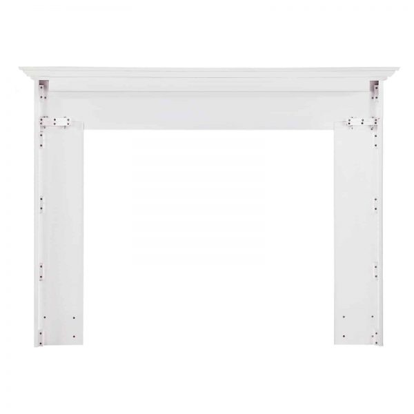 Pearl Mantels 540-56 56 in. The Marshall MDF Fireplace Mantel - White 2