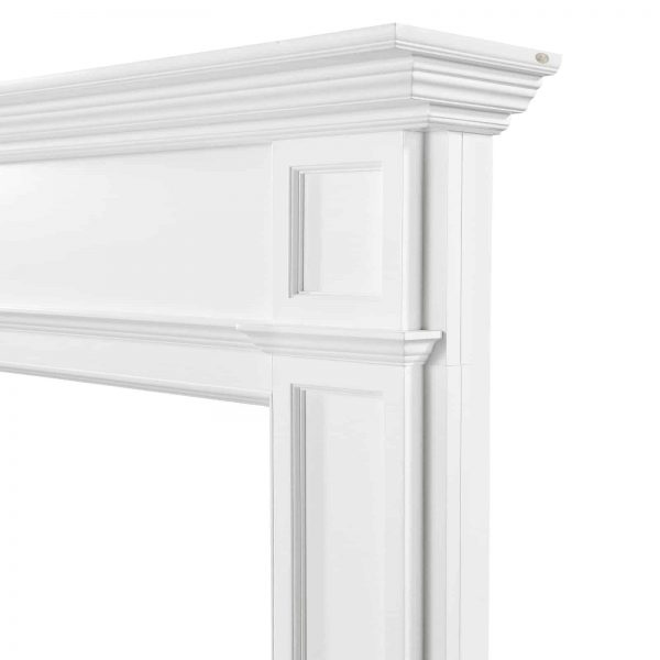 Pearl Mantels 540-56 56 in. The Marshall MDF Fireplace Mantel - White 3