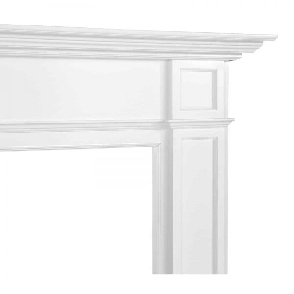 Pearl Mantels 540-56 56 in. The Marshall MDF Fireplace Mantel - White 4