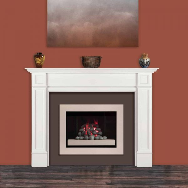 Pearl Mantels 540-56 56 in. The Marshall MDF Fireplace Mantel - White 6