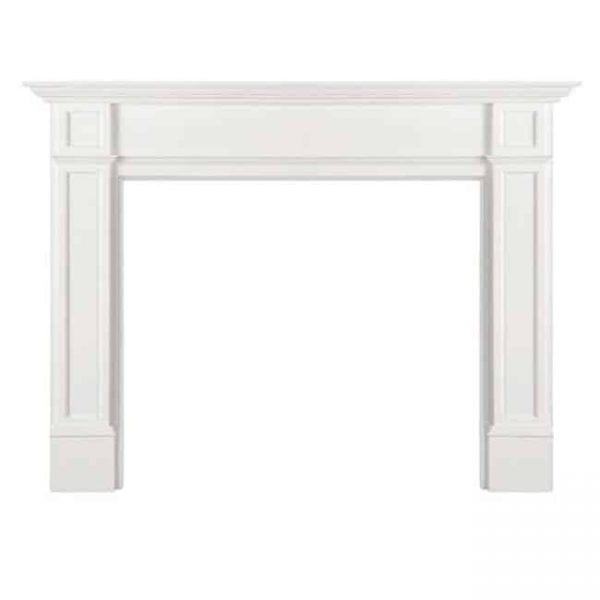 Pearl Mantels 540-56 56 in. The Marshall MDF Fireplace Mantel - White