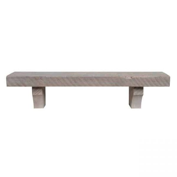 Pearl Mantels 870-60-DW 60 in. Reclaimed Solid Pine Fireplace Mantel Shelf