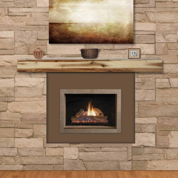 Pearl Mantels Acacia 60 in. Distressed Fireplace Mantel Shelf 2